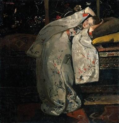 """""""Girl in white Kimono"""" 1899 , George Hendrik Breitner"""